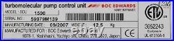 14308 Boc Edwards Turbomolecular Pump Scu-1500 Controller, 3m Cable Stp-a2203c3