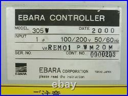 305W Ebara REM01 PWM 20M Turbomolecular Pump Controller Turbo Tested As-Is