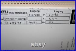 5442 Leybold Turbotronik NT1000/1500VH Turbomolecular Pump Controller