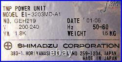 8638 Shimadzu Turbomolecular Pump Controller Ei-3203md-a1