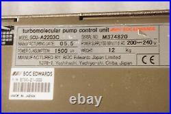 Boc Edwards Scu-a2203c Turbomolecular Pump Control Unit Tested Working Free Ship