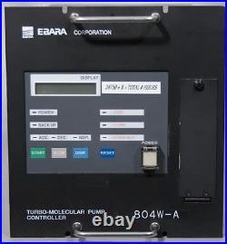 Ebara ET800WS-A Turbo Vacuum Pump with804W-A Turbomolecular Controller