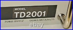Osaka Vacuum TD2001 Turbo Pump Controller, Magnetically Levitated Turbomolecular