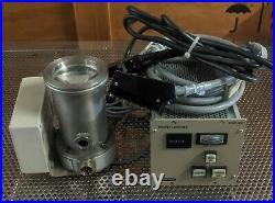 Pfeiffer blazers TPH 050 turbo pump turbomolecular uhv vacuum controller cables