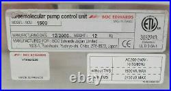 SCU-1500 Edwards PT59Z1Z00 Turbomolecular Pump Controller Turbo Tested Working