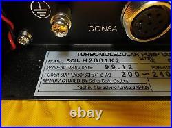 SCU Seiko Seiki SCU-H2001K2 Turbomolecular Pump Control Unit Turbo Tested