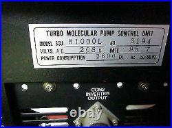 Seiko Seiki SCU-H1000L Controller, Turbo, Molecular Pump Unit, 208V AC