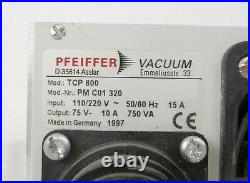TCP600 Pfeiffer PM C01 320 Turbomolecular Pump Controller Untested Surplus