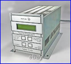 VARIAN TURBO-V 301 Turbomolecular Vacuum Pump RACK C. U. CONTROLLER 9699437
