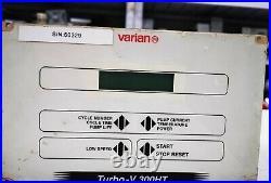 Varian Turbo-V 300HT Turbomolecular Vacuum Pump Controller, tested working